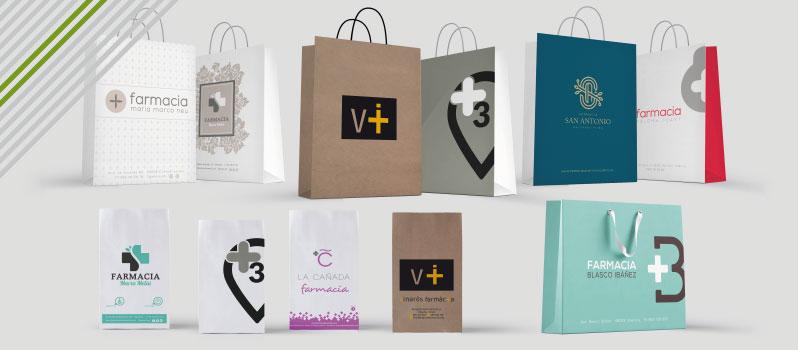 Bolsas papel farmacia personalizadas