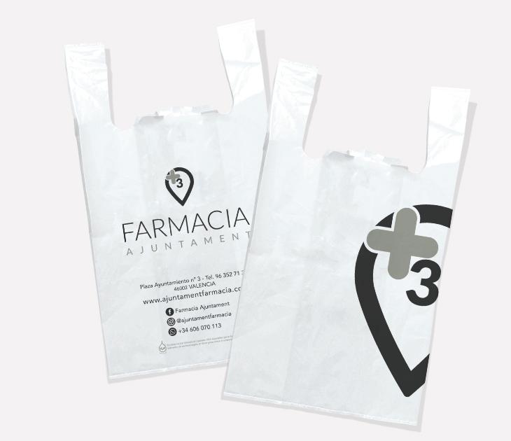 Bolsas plástico Farmacia Ajuntament
