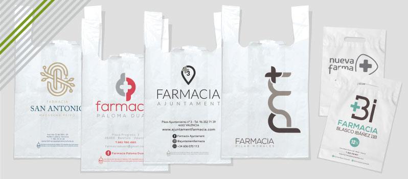 bolsas plástico farmacia personalizadas