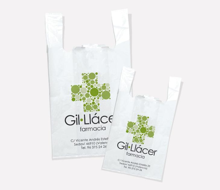 Bolsas de plástico Farmacia Gil·Llácer