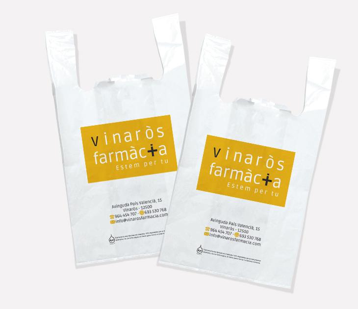 Bolsas plástico Vinarós Farmàcia