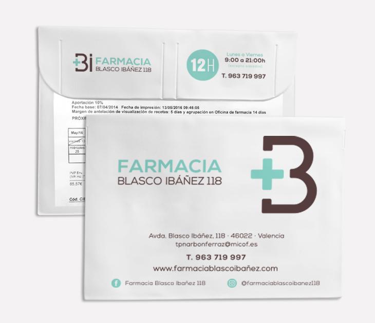 Funda receta electrónica Farmacia Blasco Ibáñez 118