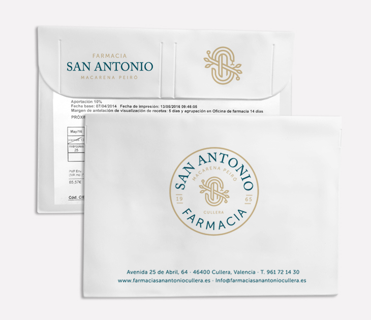 Funda receta electrónica Farmacia San Antonio