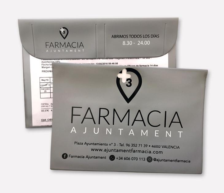 Fundas de recetas Farmacia Ajuntament