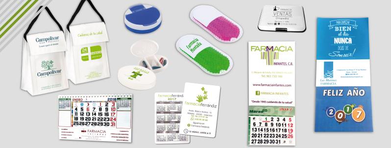 Material promocional para farmacias